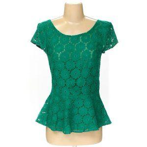UNAVAILABLE ❌ Xhilaration | Green Lace Peplum Top